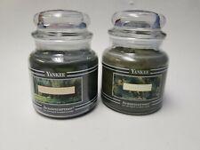 Yankee Candle Retired Black Band Mistletoe Xmas Housewarmer 14.5 oz Jar Rare l