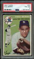 1954 Topps BB Card # 50 Yogi Berra New York Yankees HOF PSA VG-EX 4 !!!