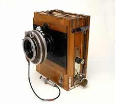 Old and Rare Russian Ukrainian folding wooden Camera FKD-13x18 + chutter 1979