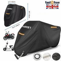 Motorbike Cover Waterproof Heavy Duty Motorcycle 96 Inch Long Anti UV Lock Hole