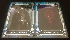 Star Wars MASTERWORK Show Force RAINBOW HOLO FOIL x2 Vader DARTH Maul Topps 2016