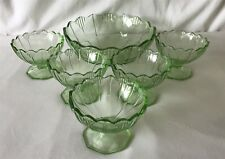Vintage 6 Piece Bowl Set 5 Small 1 Large Matching ART DECO Style Design