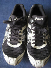 Asics G101N Hyper Md 4 Black Onyx Silver Track Running Shoes Sz 7.5 w/spikes