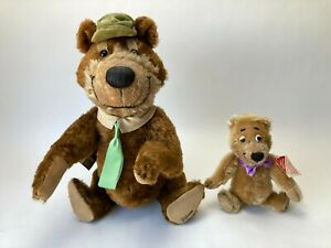 "1995 Cooperstown Mohair Bears LE HANNA-BARBERA 15"" YOGI BEAR & 8"" BOO BOO Bear"