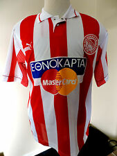 Vintage PUMA Olympiacos 1996/1997 Home Football Jersey Size Large - Excellent