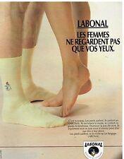 Publicité Advertising 1988 Les Chaussettes Labonal