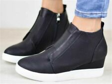 Women's Breathable Athletic Casual Loafers Shoes Suede Hidden Wedge Sneakers