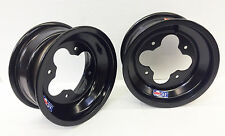 "DWT Black A5 Rolled Lip ATV Front Wheel PAIR 10"" 10x5 4+1 4/144 450R 400EX 250R"