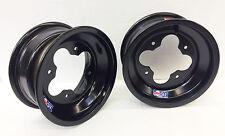 "DWT Black A5 Rolled Lip ATV Front Wheel PAIR 10"" 10x5 4+1 4/144 450R 400EX 250R"