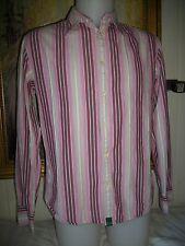 Chemise coton rose rayé blanc/fushia PAUL SMITH JEANS M/40 manches longues