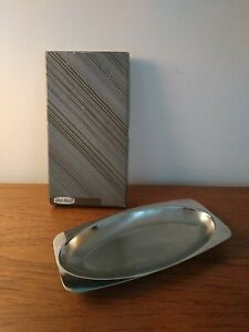 SMALL OLD HALL STAINLESS STEEL TRAY MIDCENTURY MODERN