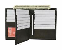 Black RFID Blocking Bifold Hipster Multi Credit Card ID Holder Leather Wallet