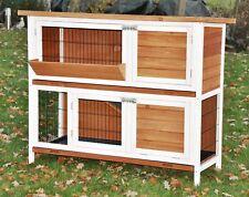 nanook Hasenstall XL Kaninchenstall Bommel Kleintierstall 122 x 50 braun weiß