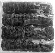 Haargummi Hohe Qualität SATZ 50 Stück Schwarz Farbig Braun FROTTEE NORMAL  MINI*