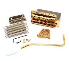 099-2049-200 Genuine Fender Pure Vintage Gold Block Stratocaster Tremolo Bridge