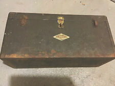 VINTAGE S-K TOOLS MECHANICS METAL STEEL TOOL BOX CHEST 20 inches Old