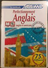 PERFECTIONNEMENT ANGLAIS - MÉTHODE ASSIMIL - COFFRET 1 LIVRE & 4 CD - NEUF