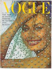 SOPHIA LOREN DE SICA Irving Berlin  ISAK DINESEN US Vogue magazine November 1962