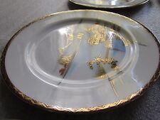 Beautiful Antique Kutani Vazosu Japan Hand Painted Porcelain Plates Set of 6