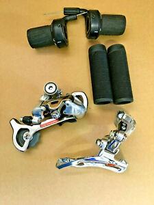 Shimano STX 3 x 7 Schaltgruppe + SRAM Gripshift, neuwertig, Vintage!
