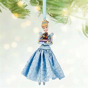 DISNEY'S-Cinderella Glitter Dress-2016 Sketchbook Ornament-w/Gus & Jaq-BNWT'S