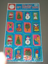 Vintage Package of 16 Kurt Adler 3D Holiday Gift Package Cards Christmas Tags