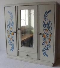 Vecchio mobile in legno - armadio da bambola - giocattolo d'epoca - specchio