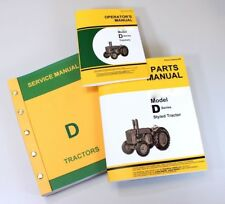 SERVICE MANUAL FOR JOHN DEERE D STYLED TRACTOR OWNERS OPERATORS PARTS CATALOG