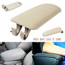 Leather Armrest Cover Latch Lid Center Console Clip for 2004-08 Audi A4 Wagon B7