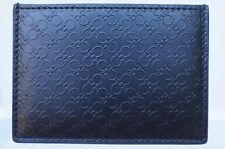 New Salvatore Ferragamo Men's Credit Card Holder Wallet Black Gancio