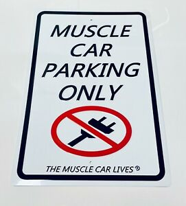 New! American Muscle Car Parking Only Metal Sign Plate Frame Garage Aluminum