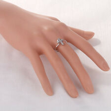 Silver/Gold Color Ring Pave Rhinestone Cross Thin Band Finger Ring Jewelry Gift