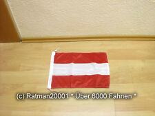 Fahnen Flagge Österreich Bootsfahne Tischwimpel - 30 x 45 cm
