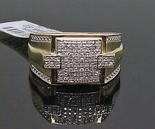 10K Yellow Gold Men's Ring With 0.20CTW Diamond /Band, Pinky