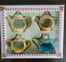 "Mary Engelbreit ""Time for Tea"" Napkin Holders Set of 4"