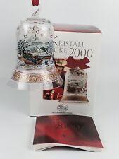 Hutschenreuther Glasglocke Kristall Glocke Weihnachtsglocke 2000 mit Verpackung