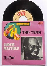 """7"""" Curtis Mayfield – This Year Belgium Ps 1979 RSO – 2090 341 Funk Soul"""