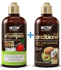 WOW Shampoo and Conditioner Set - All Natural, Sulfate Free For Dandruff - 16.9