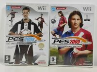 PES 2008 + 2009 Pro Evolution Soccer Football Nintendo Wii Game Bundle + Receipt