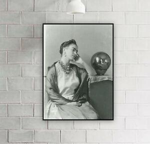 Frida Kahlo Seated With Globe (1937) Vintage Photograph print / Photo / Decor