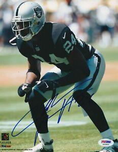 CHARLES WOODSON Signed Oakland RAIDERS 8X10 PHOTO w/ PSA COA