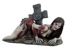 Zombie Girl with Tombstone