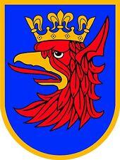 Aufkleber STETTIN Wappen mit Adler Krone Polen Auto Biker Sticker Autoaufkleber