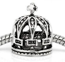 Princess Crown Queen Cross Fairytale Bead for  European Style Charm Bracelets