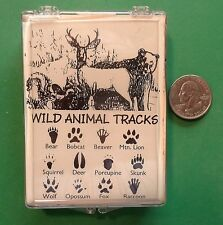 Wild Animal Tracks, Set of 12 Wood Mounted Rubber Stamps