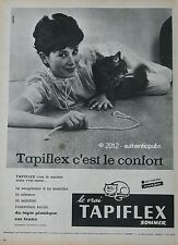 PUBLICITE de 1959 TAPIFLEX SOMMER PLASTIQUE CHAT FRENCH CAT AD ADVERT