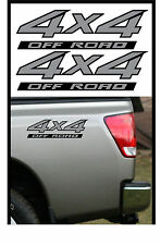 2 - 4x4 Offroad Decal Sticker Silver on Black Parts for Nissan Titan