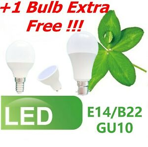 LED Bulbs 7W 12W SES BC GLS B22 E14 E27 GU10 Golf Ball Globe Candle Lamp Light