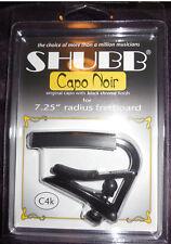 Shubb C4k Capo for 7.25 Radius Guitar Black Chrome Finish