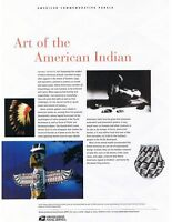 #719 37c American Indian Art MS10 #3873 USPS Commemorative Stamp Panel